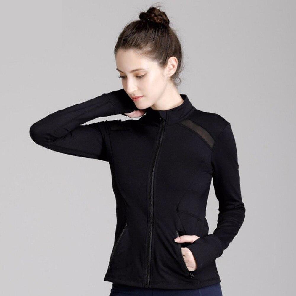 dff293ed342 SzBlaze Brand Womens Wicks Sweat Slim Jacket ladies Spring long Sleeve Coat  Shirt Casual Black and White for Workout Pilates