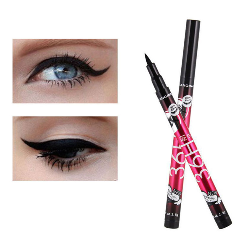 2018 Hot 36H Black Waterproof Liquid Eyeliner Makeup Beauty Comestics Long-lasting Eye Liner Pencil Eyeshadow Makeup Tools H7JP