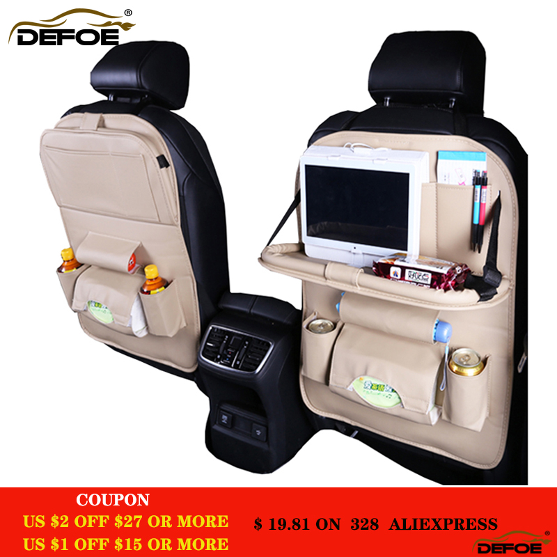 En kaliteli Araba koltuğu kapağı arka koltuk kat Yemek raf araba koltuğu saklama çantası İşlevli araç saklama boxcar araba koltuk minderi