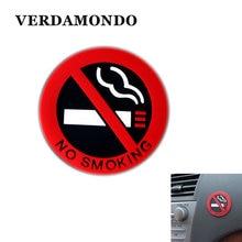 Не курить автомобиль стикер s Стиль допускается круглый красный логотип виниловая наклейка использование для автомобиля стекло бизнес двери