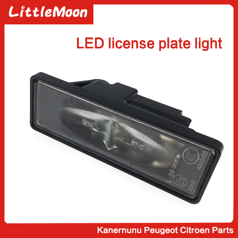 LittleMoon Brand New Genuine Number Plate Lamp License Plate Led Lights 6340G3 6340F0 For Peugeot 308 408 508 3008 Citroen C5 in License Plate from Automobiles Motorcycles