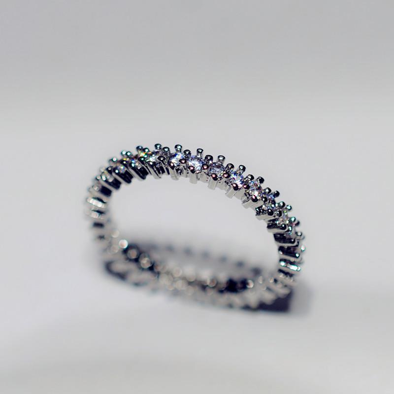 Простые круглые милые кольца серебряного цвета для женщин модные