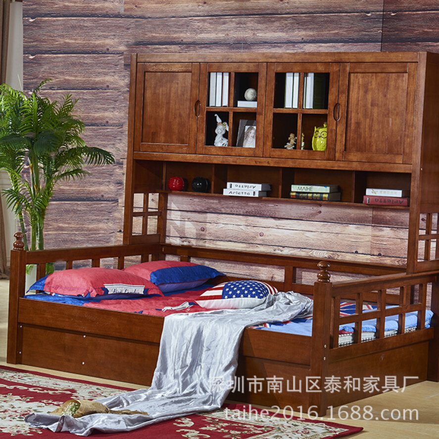 bed loft with house shelf p ac cabinet bookshelf desk kids tree included