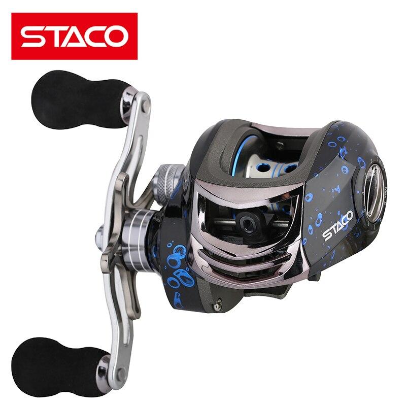 STACO agua rueda carrete de pesca carpa 13 + 1BB 6,3: 1 Baitcasting ...