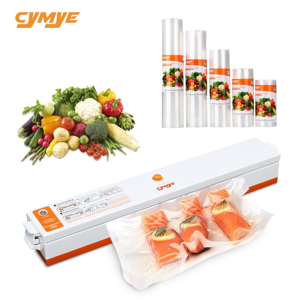 CYMYE Food Saver Vacuum Sealer QH01 Machine + Plastic Rolls