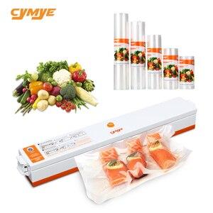 CYMYE Food saver Vacuum Sealer QH01 Machine + Plastic rolls(China)