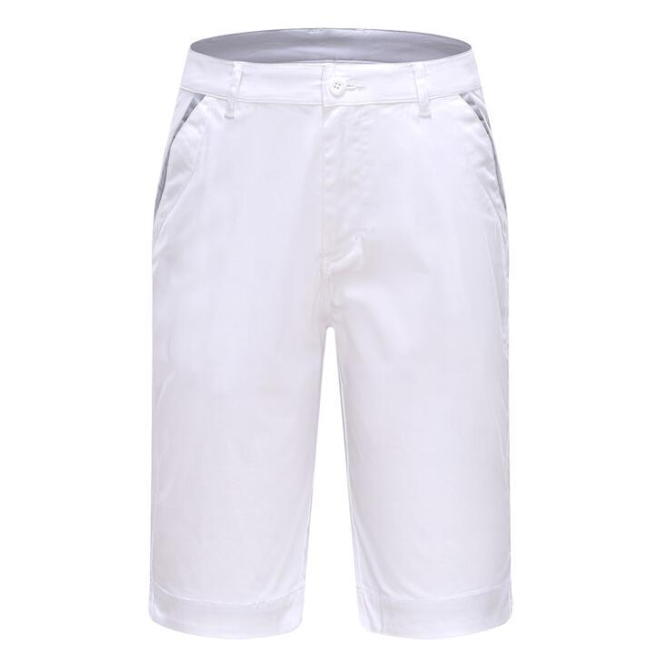Sólida dos Homens Shorts de Algodão-secagem Respirável na Altura do Joelho Novo Verão Sportswear Golfe Rápida Calções Desportivos Tamanho 30-38 2019