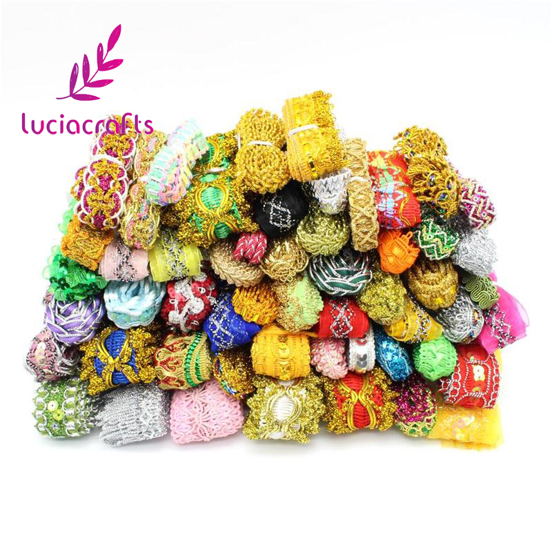 Generous Lucia Crafts 12 Yards Approx 10-35mm Random Lace Ribbon Various Embellishment Lace Trim Sewing Decoration Accessories 040002014 To Enjoy High Reputation In The International Market Home & Garden