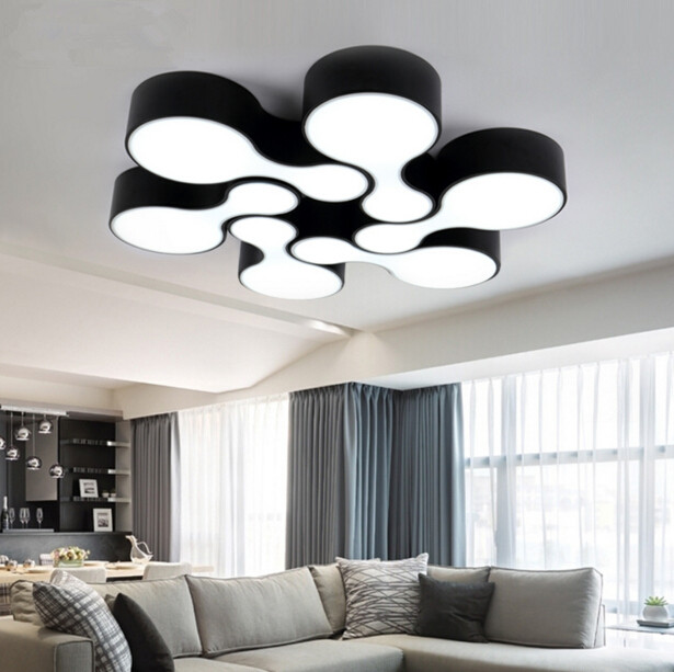 220v modern fashion nordic living room bedroom ceiling for Led deckenleuchte modern