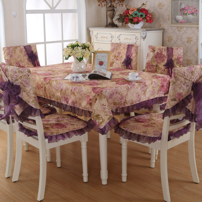 Hot Sale Fashion Dining Table Cloth Chair Covers Cushion Tables And