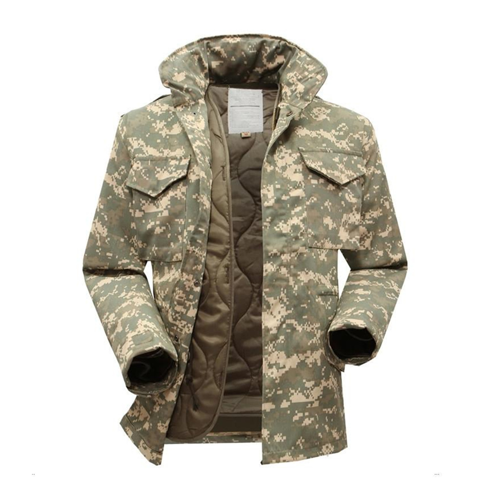 M65 militaire tactique veste pour hommes armée ventilateur coupe-vent veste grande taille avec intérieur militaire fans hiver veste hommes vêtements