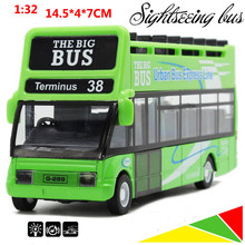 Sightseeing car, 1:32 alloy pull back bus, Wagon, Diecast cars,children's toys, gifts, hot free shipping