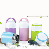Large Insulation Food Pail Lunch Box Hot Cold Food Container Stainless Steel Vacuum Flask Bottle Insulation