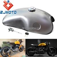 Universal Motorcycle 10L Cafe Racer Mojave Fuel Tank Vintage 2.6 Gallon Gas Tank For Honda Suzuki Yamaha BMW CB XS SR XV 750