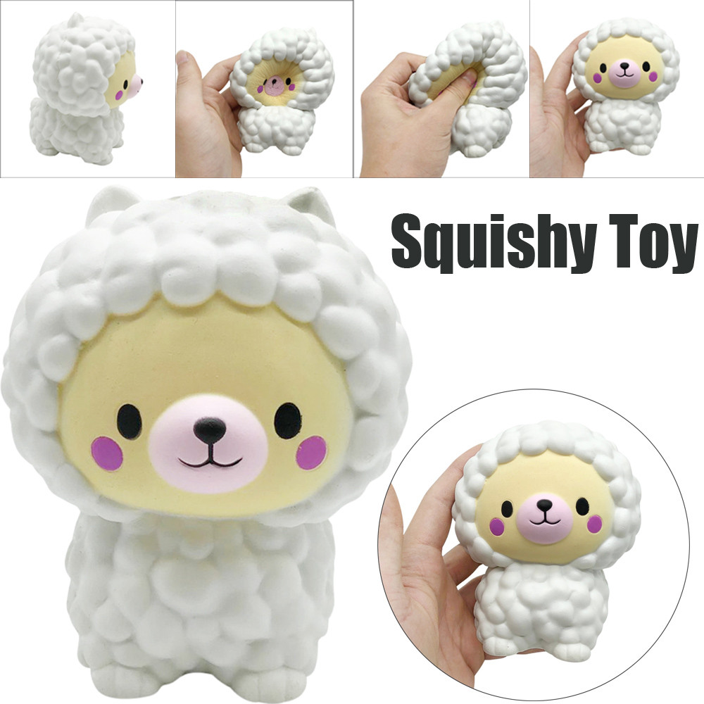 New White Sheep Slow Rising Decompression Squeeze Toys Squishy Anti Stress Fun Funny Gadget Interesting Toys Kid Gift Decoration Welding & Soldering Supplies