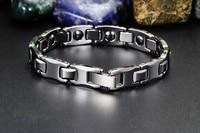tungsten steel bracelet male energy magnetic health bracelets men's bracelets and cool luxury for the man Bangle Wristwatch