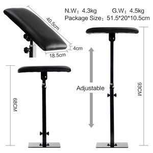 Image 2 - Stigma Portable Adjustable Tattoo Armrest Heavy Duty Iron Professional Leg Rest Stand Holder Tattoo Accesories Bracket TA209