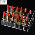 24 Lipstick Holder Organizer Display Stand for Cosmetics Jewelry Display Box  Rangement Maquillage Acrylic Makeup Organizer