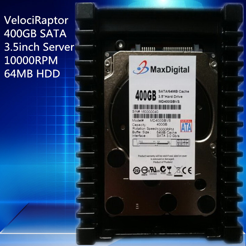 VelociRaptor 400GB 3.5inch SATA 64M 10000RMP 64M Server HDD Warranty for 1yera