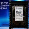 VelociRaptor 400GB 3.5inch SATA 64M 10000RMP 64M Server HDD Warranty for 1yera