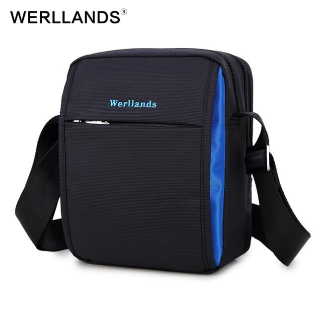 WERLLANDS Men s Messenger Bags Small Male Bag Cross Body For Men Shoulder  Work Bags For Men Crossbody bao bao Denim Shoulder Bag 554706ee2c697