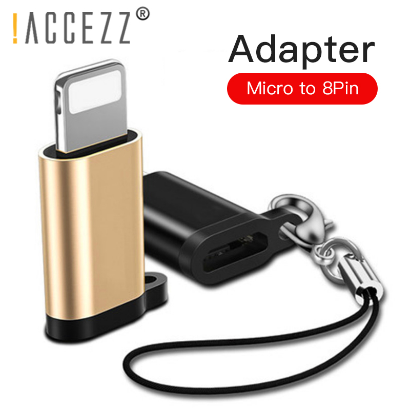 !ACCEZZ 4PC OTG Adapter Micro USB Female To Lighting 8 Pin For Iphone X XS MAX XR 7 8 6S Plus Phone Data Sync Charger Converter
