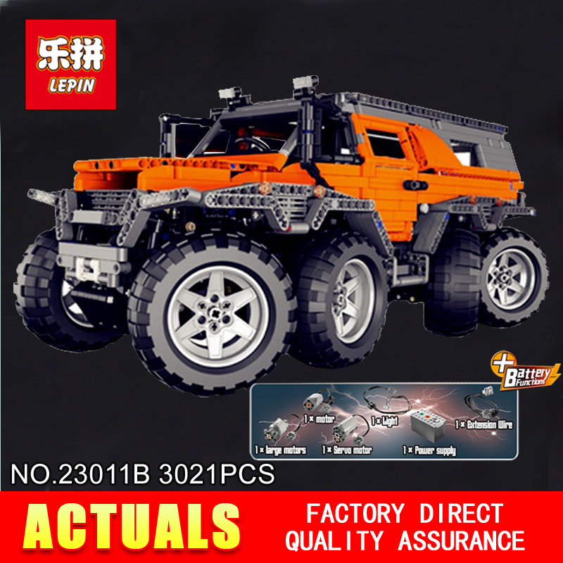 Новый Лепин 23011B 3021 шт. дизайн серии внедорожных модель автомобиля строительные Наборы блок образовательных кирпичи совместимые игрушки по...