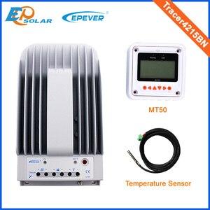 Image 1 - 12 فولت 40A 40amp جهاز تحكم يعمل بالطاقة الشمسية EPEVER Tracer4215BN + درجة الحرارة الاستشعار 12 فولت 24 فولت السيارات نوع مع MT50 البعيد متر