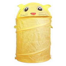 Toy Container Toy Storage Box Folding Bucket Laundry Cylinder Basket for Toys Cute Cartoon Animal Beetle Frog Dog
