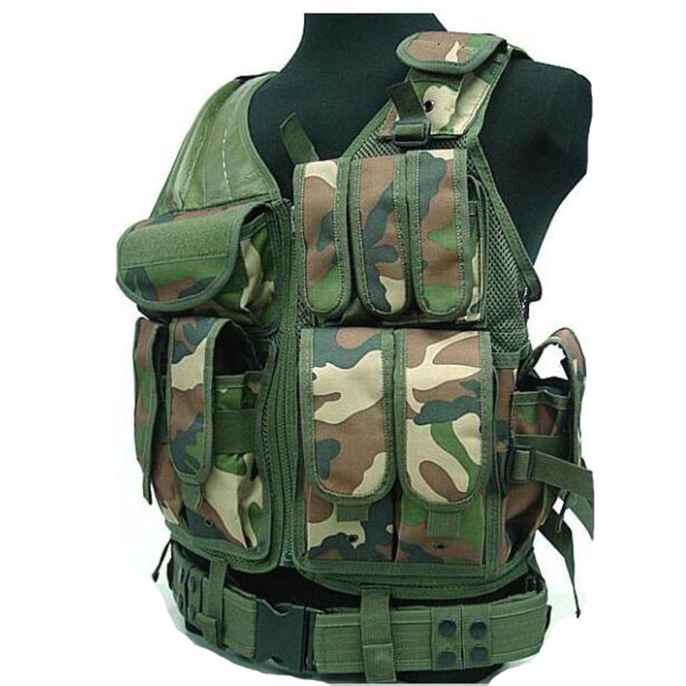 Colete Tatico 047 Net Vest 7 Colors Camouflage Hunting Military Tactical Vest Tactical Vest Unloading Army Tactical Vest Chaleco