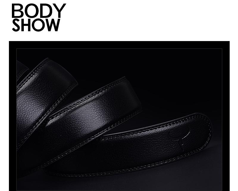 حزام COWATHER  جلد طبيعي للرجال ذو جودة عالية 13