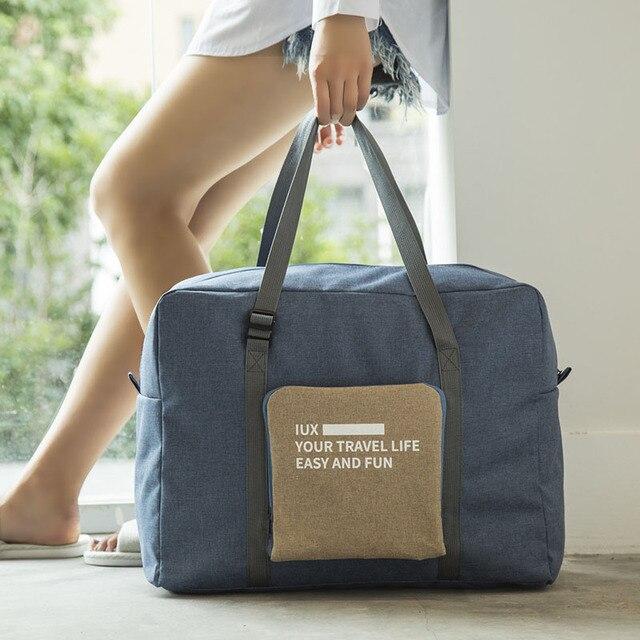 Men WaterProof Travel Bag Nylon Large Capacity Women Bag Folding Travel Bags Hand Luggage Packing Cubes Organizer Free Shipping
