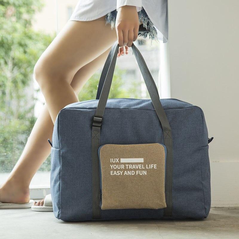 Männer Wasserdichte Reisetasche Nylon Große Kapazität Frauen Klapp Reise Taschen Hand Gepäck Verpackung Würfel Veranstalter Kostenloser Versand