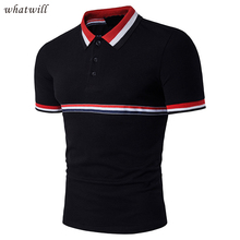 New 2017 Classic Polos Polo Shirts Camisa polo Casual Tops Color Block Fitness All Match Men's Clothing