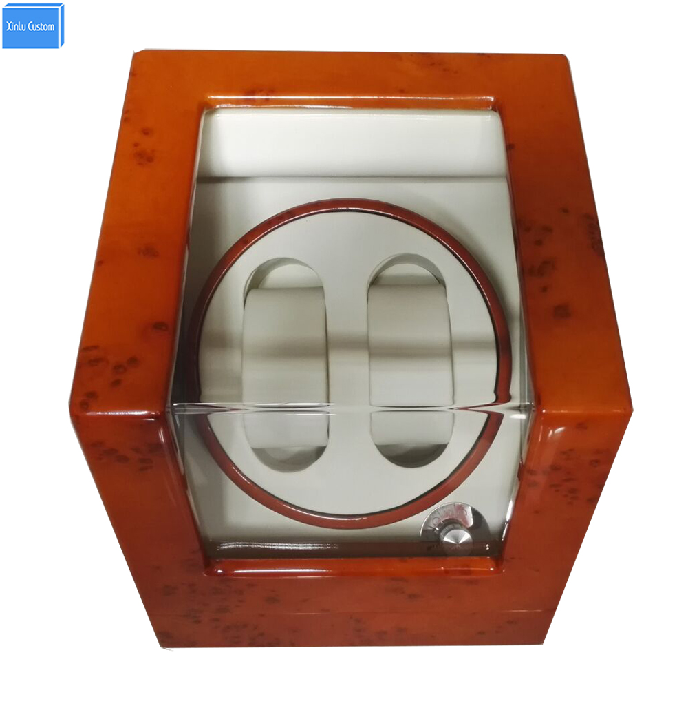 Automatic Box Watch Winder 2  Mechanical Watch Winder Box Wood Gloosy Leather EXW Drop Shipping OEM Factory Supply Xinlu Custom watch winder lt wooden automatic rotation 2 0 watch winder storage case display box white