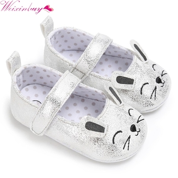 2017 princess shoes Autumn  Baby girl PU Leather Shoes Infant Leisure Outdoor Cat Face Ears Shoes Cute smile lucky meow baby