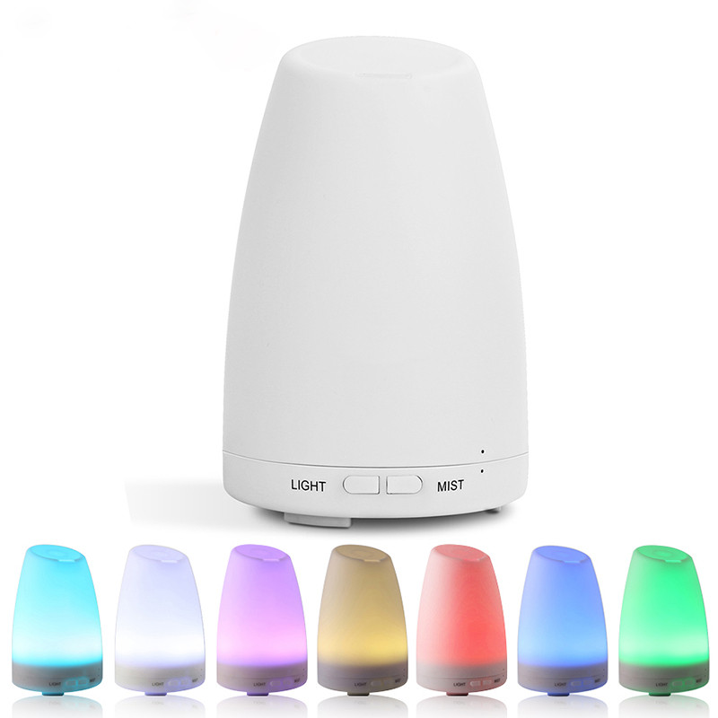 Ultrasonic Humidifier Essential Oil Diffuser Cool Mist Aromatherapy 7 Color LED Light for Home Bedroom Living Room Study Yoga cost performance m95 full ceramic bearing 5x9x3 zirconia zro2 ball bearing