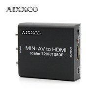 AIXXCO 합금 1080 마력 rca AV CVBS HDMI AV2HDMI 미니 HDMI 컨버터 신호