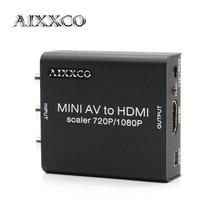 Aixxco сплав 1080 P RCA для HDMI AV CVBS, чтобы HDMI AV2HDMI Мини AV к HDMI конвертер преобразователь сигнала для ТВ, vhs видеомагнитофон, DVD записи