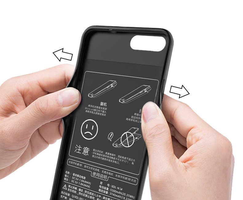 Honor 9 контейнер для аккумуляторных батарей для Huawei honor 9 внешний силиконовый чехол для зарядного устройства ударопрочный внешний аккумулятор задняя крышка