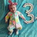 2017 Criança primavera Outono Da Menina do Menino macacão macacão de algodão Recém-nascidos Roupa Das Crianças das Crianças jumpsuit Roupas pijama SR135