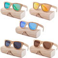 Деревянные солнцезащитные очки Oeientree  брендовые поляризационные солнцезащитные очки из бамбука с защитой UV400 и деревянным футляром