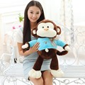 55CM yoyo and cici smile happy monkeys hiphop vested monkeys plush toy lovers doll Lucky birthday gift monkey doll baby smiley +