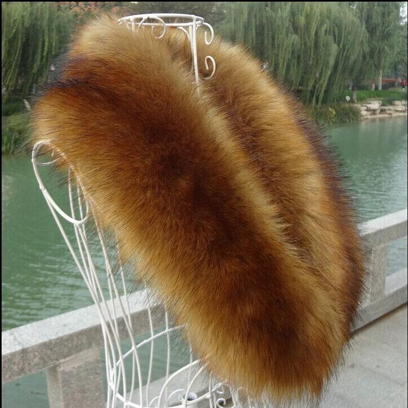 Frauen Winter Pelzkragen Schals Mode Faux Fuchs Pelzkragen Imitation Fake Waschbärpelz Schals Artikel Wolle Hut Off Cape SchüTtelfrost Und Schmerzen