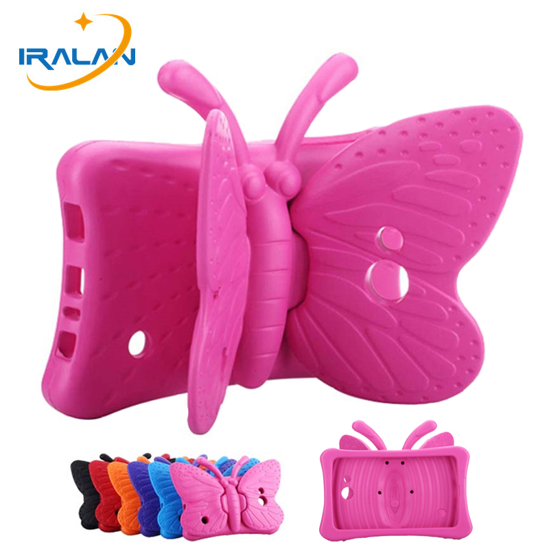 Kids Safe Butterfly 3D Cover For Samsung Galaxy Tab A T280 T285 4 7.0 T230 T231 Tab 3 Lite T110 T116 Tab 3 T210 Tablet Case+Pen
