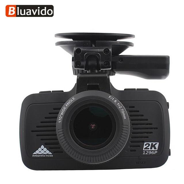 US $72 36 45% OFF|Bluavido 2K Dash camera Ambarella A7 Full HD 1296P auto  Video Recorder GPS tracker Night Vision LDWS Car DVR Overspeed Reminding-in