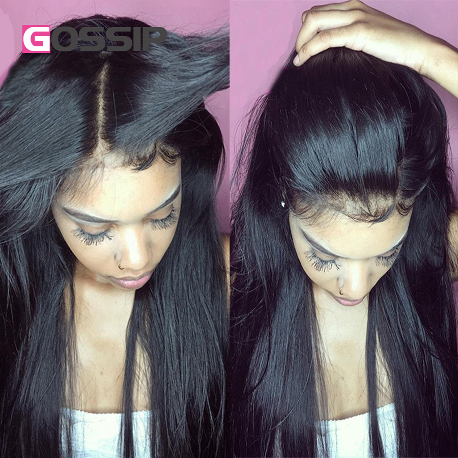 Full Lace Front Wigs Human Hair Peruvian Hair Straight