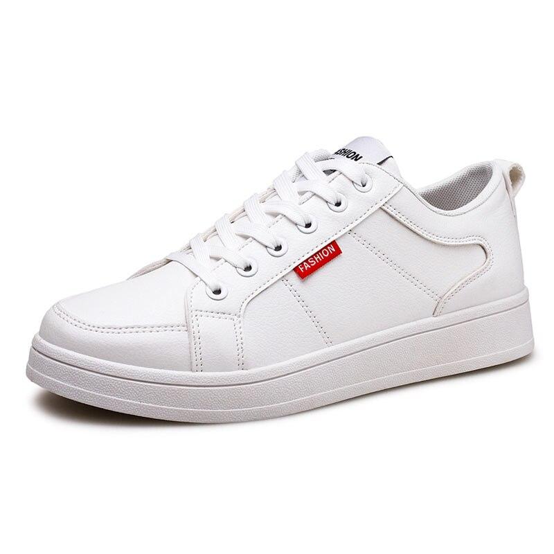 New Men s Shoes Fashion Men Casual Shoes PU Flat Footwear Light font b Sneakers b