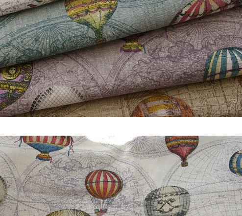 145cmx50cm fabric for patchwork zakak travel around the world map of 145cmx50cm fabric for patchwork zakak travel around the world map of hot air balloon cotton curtain linen fabric in fabric from home garden on gumiabroncs Gallery