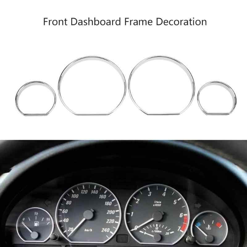 4pcs Car Front Dashboard Decoration Frame Dial Ring Trim Car Styling Auto Front Cover for BMW E46 Car Replacement Part Accessory